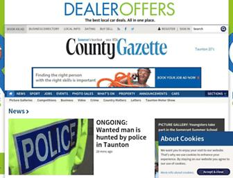 Main page screenshot of somersetcountygazette.co.uk