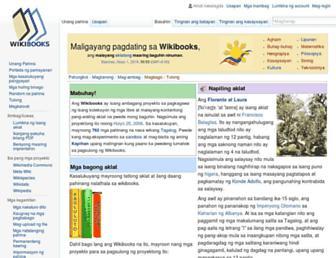 tl.wikibooks.org screenshot