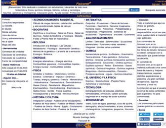 Main page screenshot of fisicanet.com.ar