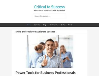 criticaltosuccess.com screenshot