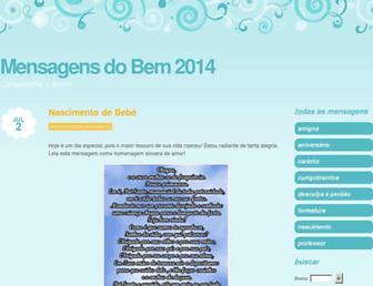 Main page screenshot of mensagensdobem.com.br