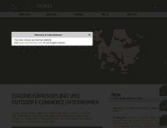 Main page screenshot of internetstores.de