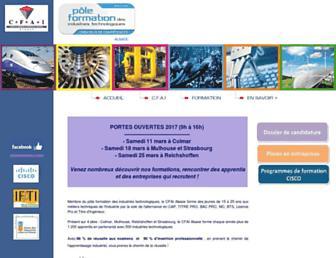 cfai-alsace.fr screenshot