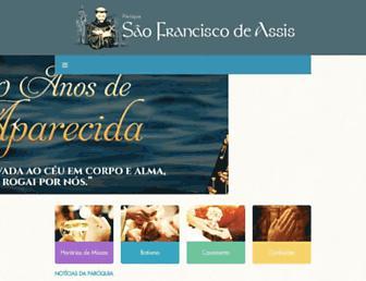 paroquiasaofranciscodeassiscg.org screenshot