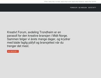 Main page screenshot of kf-trondheim.no