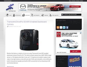 Main page screenshot of digitalcameras.techfresh.net