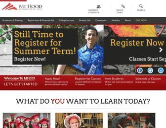 mhcc.edu screenshot