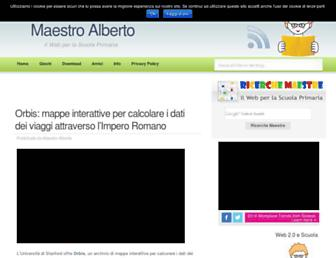 Main page screenshot of albertopiccini.it