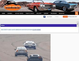 Main page screenshot of impalas.net