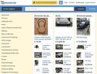 Main page screenshot of 2ememain.be