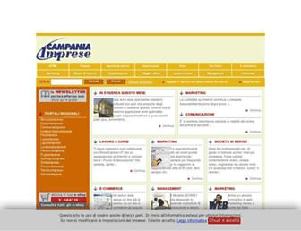 Main page screenshot of campaniaimprese.info