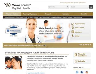 Thumbshot of Wakehealth.edu