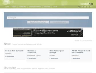 Main page screenshot of startblatt.net