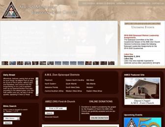 Main page screenshot of amez.org