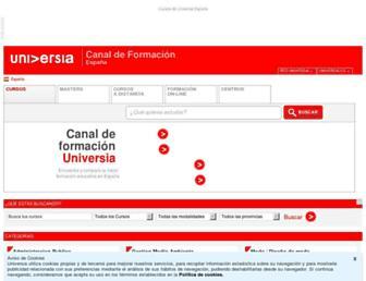 cursos.universia.es screenshot