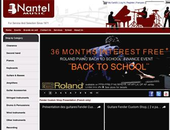 Main page screenshot of nantelmusique.ca