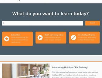 academy.hubspot.com screenshot