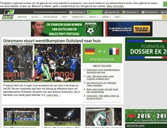 Main page screenshot of fcupdate.nl
