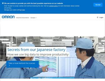 industrial.omron.eu screenshot