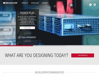 broadcom.com screenshot