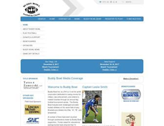 Main page screenshot of buddybowl.org