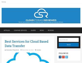 cloudstoragereviewed.com screenshot