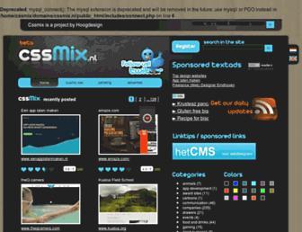 Main page screenshot of cssmix.nl