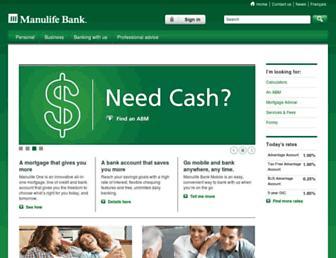 manulifebank.ca screenshot