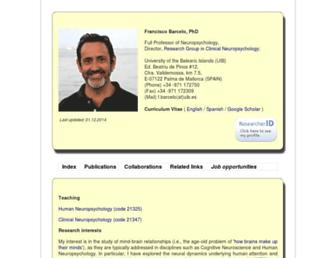 Main page screenshot of mcst.es