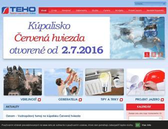 teho.sk screenshot