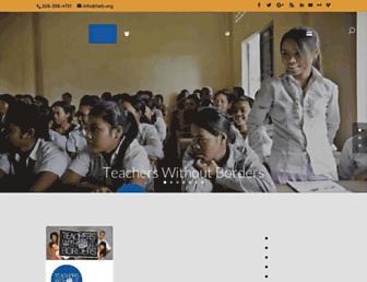 teacherswithoutborders.org screenshot