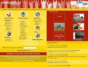 Main page screenshot of gids.lv