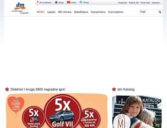 dm-drogeriemarkt.ba screenshot