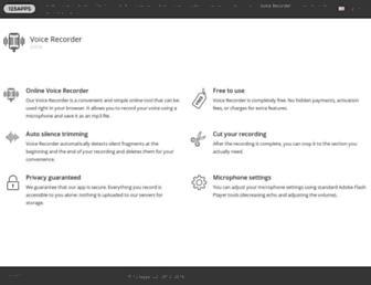 online-voice-recorder.com screenshot