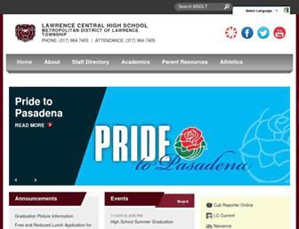 lawrencecentral.ltschools.org screenshot