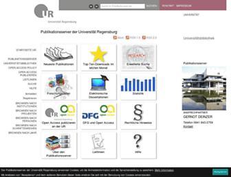 epub.uni-regensburg.de screenshot
