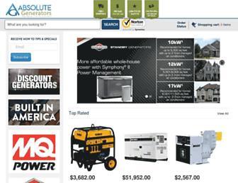 absolutegenerators.com screenshot