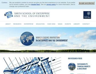 smithschool.ox.ac.uk screenshot