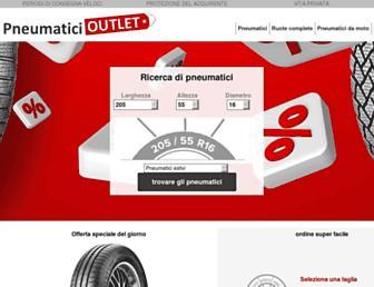 pneumatici-outlet.it screenshot