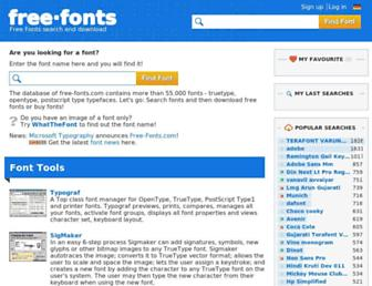 free-fonts.com screenshot