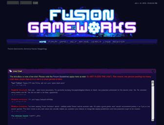 fusiongameworks.net screenshot