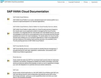 help.hana.ondemand.com screenshot