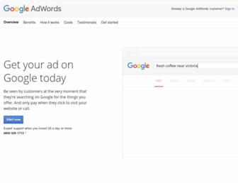 adwords.google.co.uk screenshot