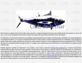 Main page screenshot of clubdelamar.org