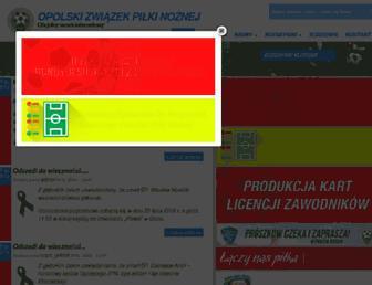 Main page screenshot of opolskizpn.pl