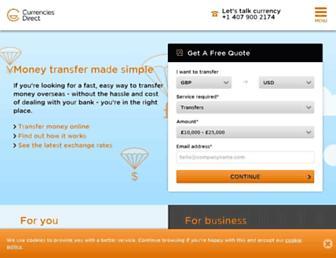 currenciesdirect.com screenshot