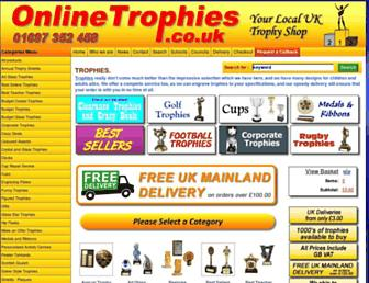 onlinetrophies.co.uk screenshot
