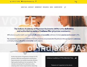 indianapas.org screenshot