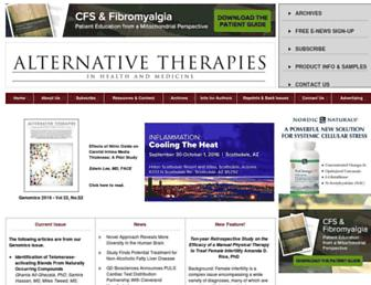 Thumbshot of Alternative-therapies.com
