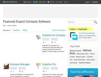 export-contacts.mac.informer.com screenshot